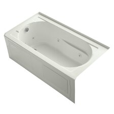 """Devonshire 60"""" X 32"""" Alcove Whirlpool Bath with Integral Apron, Tile Flange, Left-Hand Drain and Heater"""
