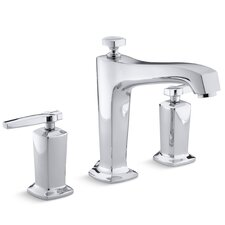Margaux Deck-Mount High-Flow Bath Faucet Trim with Lever Handles and Diverter Spout, Valve Not Included