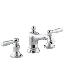 Bancroft Widespread Lavatory Faucet with Metal Lever Handles