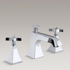 Memoirs Bath- Or Deck-Mount High-Flow Bath Faucet Trim with Cross Handles and Stately Design, Valve Not Included