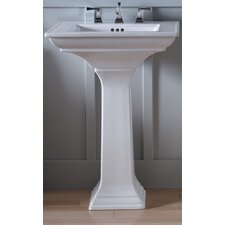 "Memoirs Pedestal Lavatory with Stately Design and 8"" Centers"