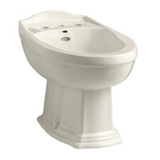"Portrait 16.81"" Floor Mount Bidet with Single Hole Faucet Drilling"