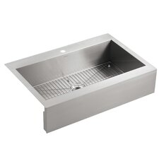 "Vault 36"" Single Basin Top-Mount 18-Gauge Single Hole Kitchen Sink with Self Trimming"