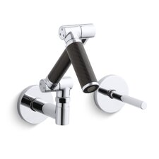 Karbon Wall Mount Lavatory Faucet with Black Tube