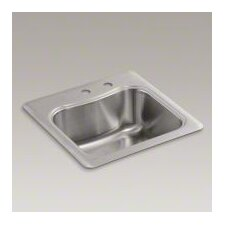 Staccato Top-Mount Single-Bowl Bar Sink with 2 Faucet Holes