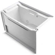 "Elevance Rising Wall 60"" X 34"" Alcove Bubblemassage Air Bath with Left-Hand Drain"