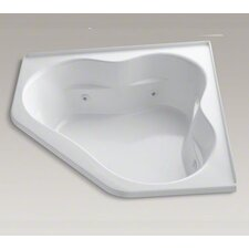"""Tercet 60"""" X 60"""" Whirlpool Bath with Tile Flange and Center Drain"""