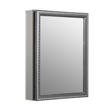 "20"" x 26"" Medicine Cabinet with Decorative Silver Trim"