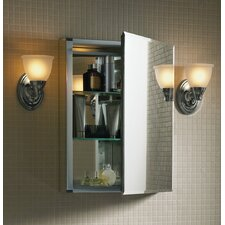 "15"" x 26"" Surface Mounted Beveled Edge Medicine Cabinet"