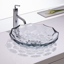 Briolette Vessels Glass Lavatory