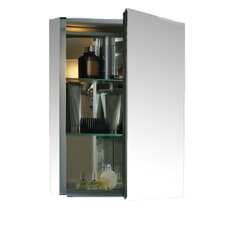 "20"" W x 26"" H Aluminum Single-Door Medicine Cabinet with Mirrored Door, Beveled Edgesvv"