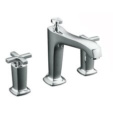 Margaux Deck-Mount High-Flow Bath Faucet Trim with Cross Handles and Diverter Spout, Valve Not Included
