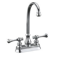 Revival Entertainment Sink Faucet with Traditional Lever Handles