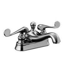 Revival Centerset Lavatory Faucet with Scroll Lever Handles