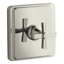 Pinstripe Thermostatic Valve Trim, Cross Handle, Valve Not Included
