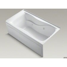"""Hourglass 60"""" X 32"""" Alcove Whirlpool Bath with Integral Apron, Right-Hand Drain and Heater"""