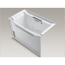"""Elevance Rising Wall 60"""" X 32"""" Alcove Bubblemassage Air Bath with Left-Hand Drain"""