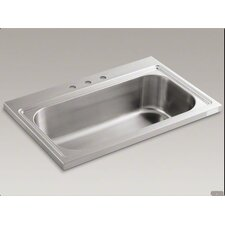 "Pro Tasksink 39"" x 25.75"" Tile-in / Flush Mount Single Bowl Kitchen Sink with 3 Faucet Holes"