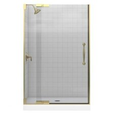 """Finial 41.75"""" W x 72.25"""" H Pivot Shower Door with 0.375"""" Glass"""