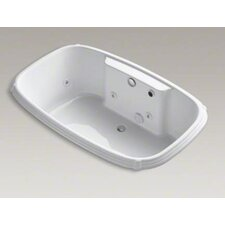 """Portrait Collection 67"""" Drop In Jetted Whirlpool Bath Tub with Center Drain and Left Back Pump"""