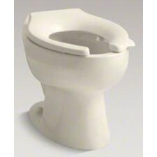 Wellcomme Elongated Toilet Bowl with Rear Spud and Bedpan Lugs, Less Seat