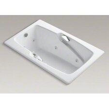 """Steeping Collection 60"""" Drop In Jetted Whirlpool Bath Tub with Left Side Drain with Right Front Pump Placement"""