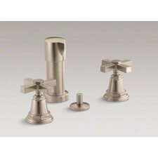 Pinstripe Bidet Faucet with Cross Handles