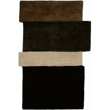 Hand Tufted Sliding Dark Brown Rug