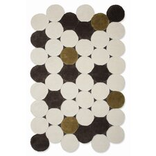 Hand Tufted Jose Gandia Circulos Ivory Geometric Area Rug