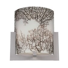 "10"" Bow Glass Cylindrical Wall Sconce Shade"