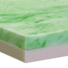 "2"" Gel and Memory Foam Mattress Topper"