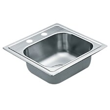 "2200 Series 15"" x 15"" Single Bowl Drop in Kitchen Sink"