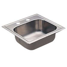 "<strong>Moen</strong> 2000 Series 22.12"" x 19.25"" Bowl Drop in Kitchen Sink"
