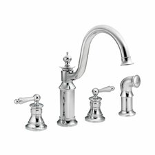 Waterhill Two Handle Widespread High Arc Kitchen Faucet with Convenient Side Spray