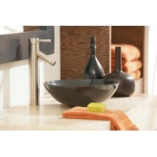 One-Handle Centerset Low Arc Vessel Bathroom Faucet
