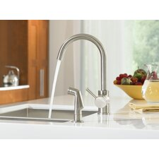 Level Single Handle Single Hole High Arc Kitchen Faucet with Optional Side Spray