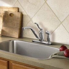 <strong>Moen</strong> Banbury One Handle Low Arc Lead Compliant Kitchen Faucet