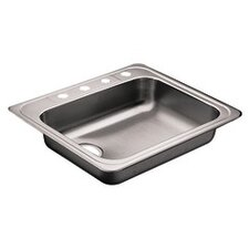 "<strong>Moen</strong> Commercial 25"" x 22"" Single Bowl Self-Rimming Kitchen Sink"