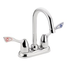 <strong>Moen</strong> M-Bition Desk Mount Widespread Faucets with Spout Reach and Double Wrist Blade Handle