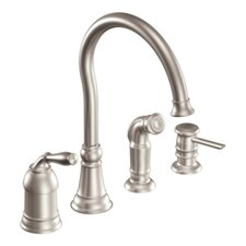 <strong>Moen</strong> Lindley One Handle High Arc Lead Compliant Kitchen Faucet