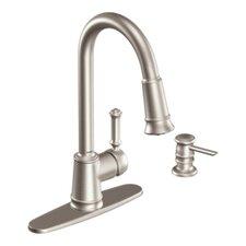 Lindley One Handle Centerset Lead Compliant Kitchen Faucet