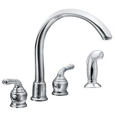 Monticello Two Handle Widespread Cathedral Spout Kitchen Faucet