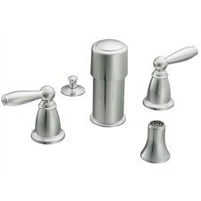 <strong>Moen</strong> Brantford Double Handle Vertical Spray Bidet Faucet