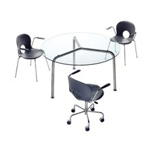 Convito Round Glass Dining Table