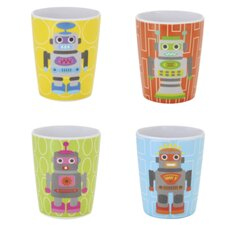 Robot Kids Juice Cups (Set of 4)