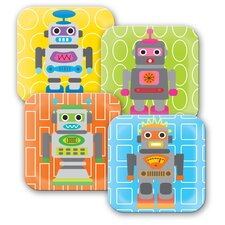 <strong>French Bull</strong> Robot Kids Plates (Set of 4)