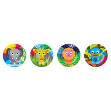 Jungle Kids Round Plates (Set of 4)