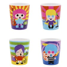 Rock Star Kids Juice Cups (Set of 4)