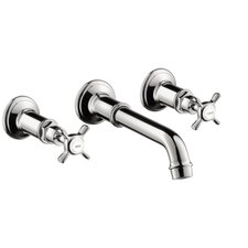 Axor Montreux Widespread Wall Mounted Faucet Trim with Cross Handle