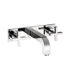 Axor Citterio Wall Mounted Faucet with Cross Handle and Base Plate